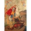 Ikona Świętego Jerzego, zabijającego smoka